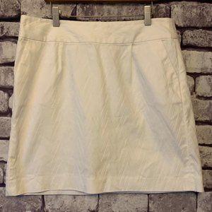 Banana Republic White Skirt Size 10